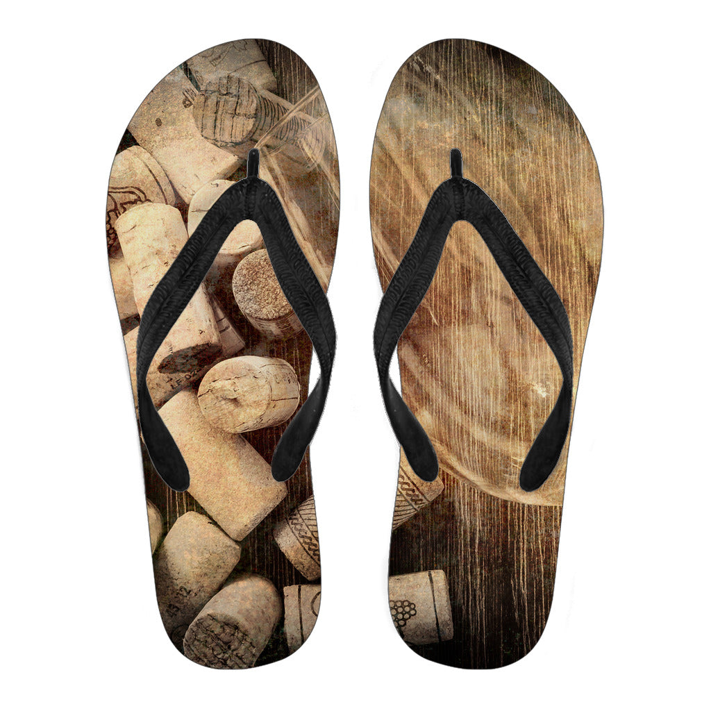 Glass and Corks Flip Flops