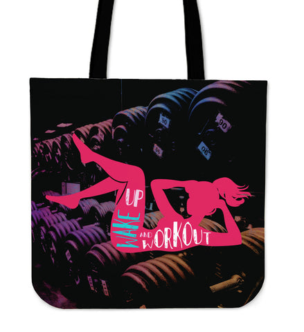 Wake Up And Work Out Tote Bag