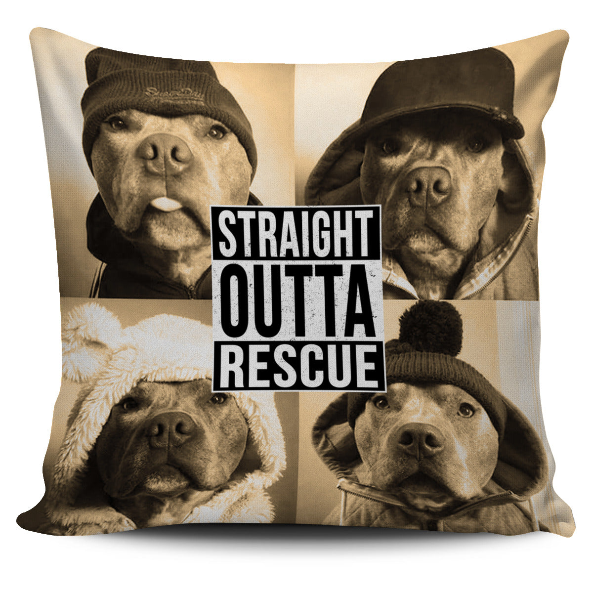 Straight Outta Rescue Pillow Cover