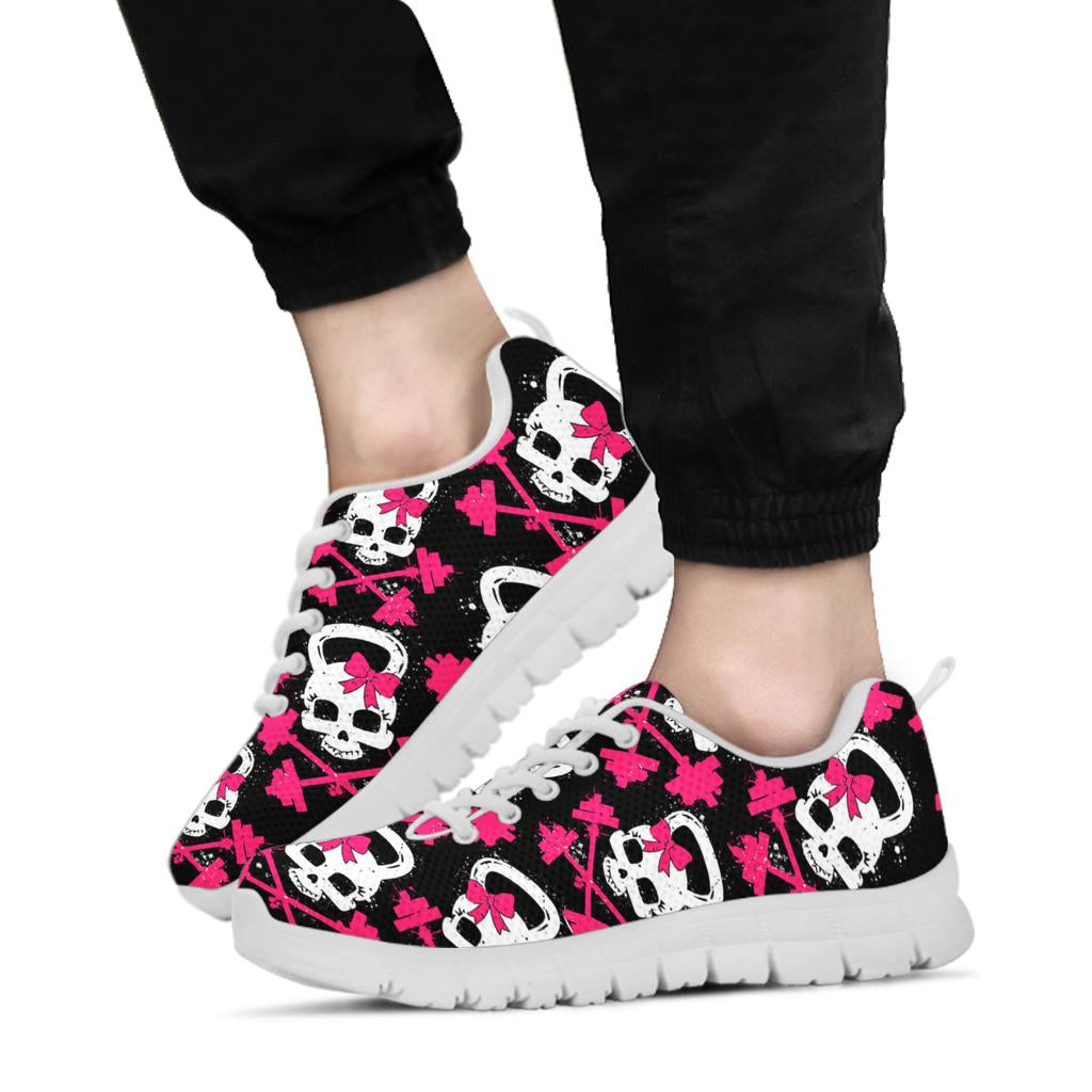 Gym Skull Sneakers White Soles