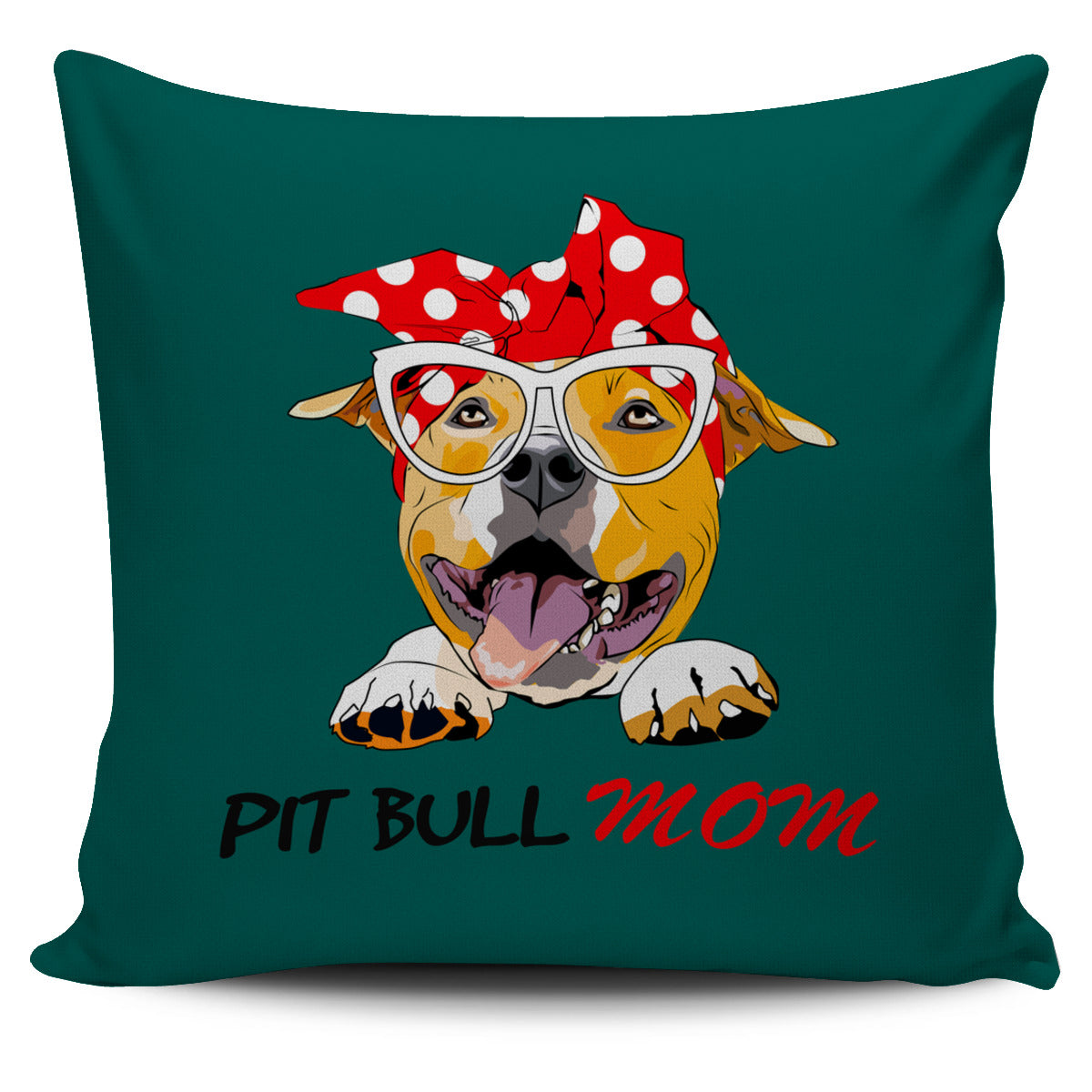 Pit Bull Mama Pillow Cover