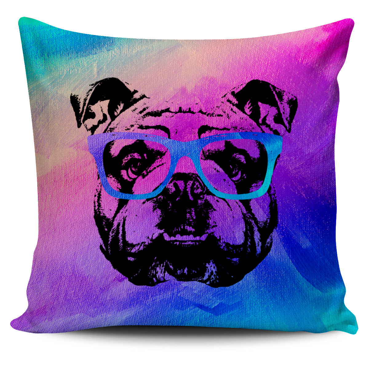 Cool Bulldog Pillow Cover
