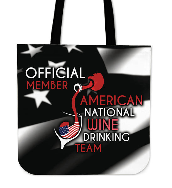 American Wine Drinking Team Tote Bag