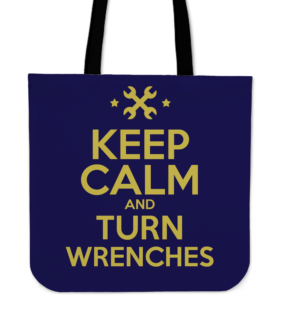 Keep Calm and Turn Wrenches Tote Bag