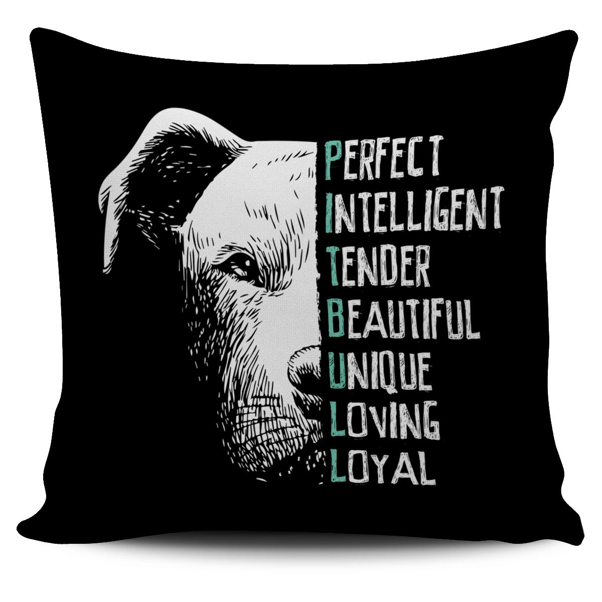 Perfect Pit Bull Pillow Cover