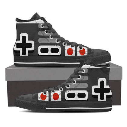 Gamer's Vintage High Top Shoes