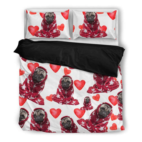 Pug Love Bed Sheet