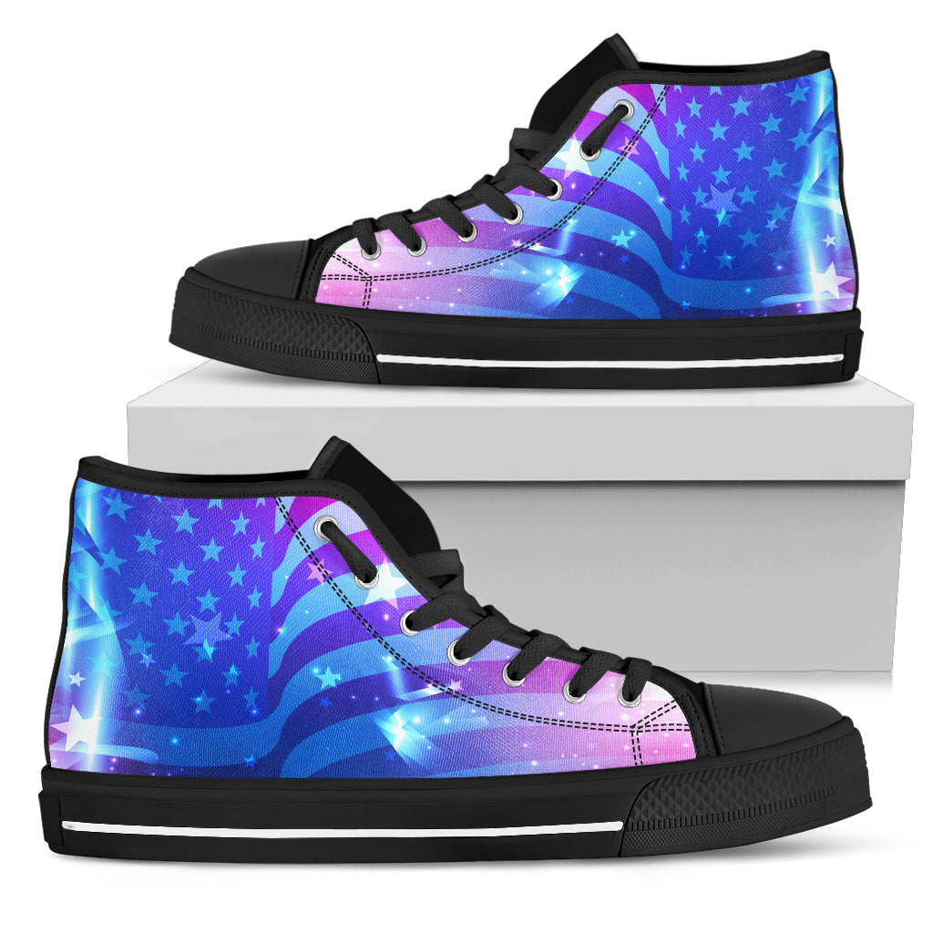 Abstract USA High Tops Shoes
