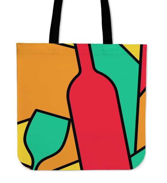 Abstract Wine Tote Bag