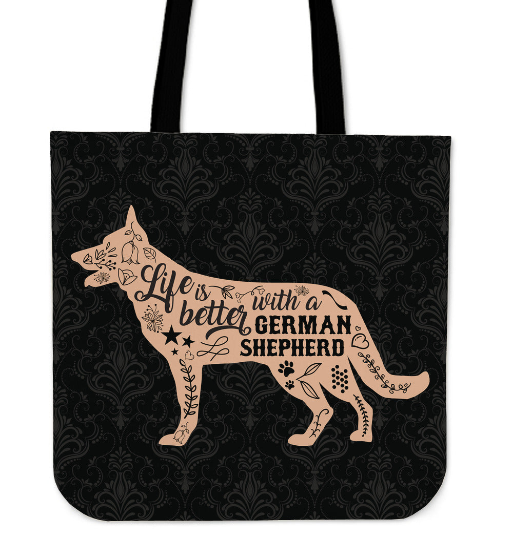 Life Is Better With A German Shepherd Tote Bag