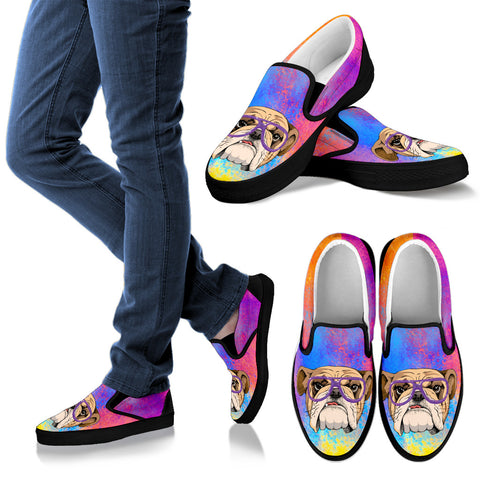 Cool Bulldog Slip Ons