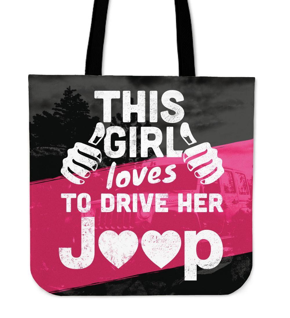 Girl Loves Her Jeep Tote Bag