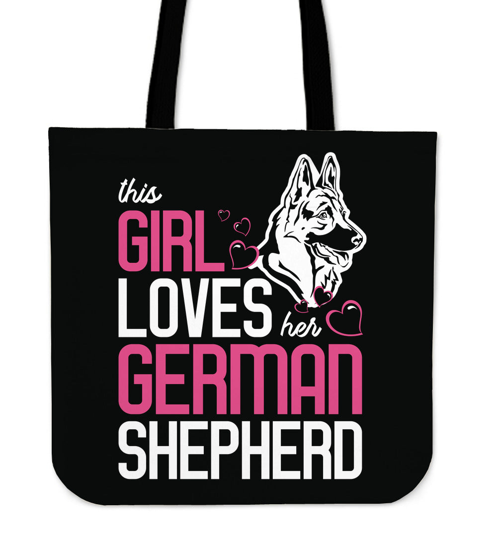 This Girl Loves Her German Shepherd Tote Bag