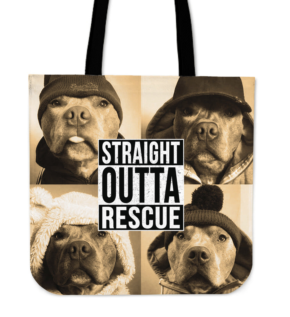 Straight Outta Rescue Tote Bag