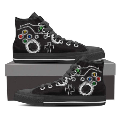Gaming Joystick High Top Shoes - gaming bestseller