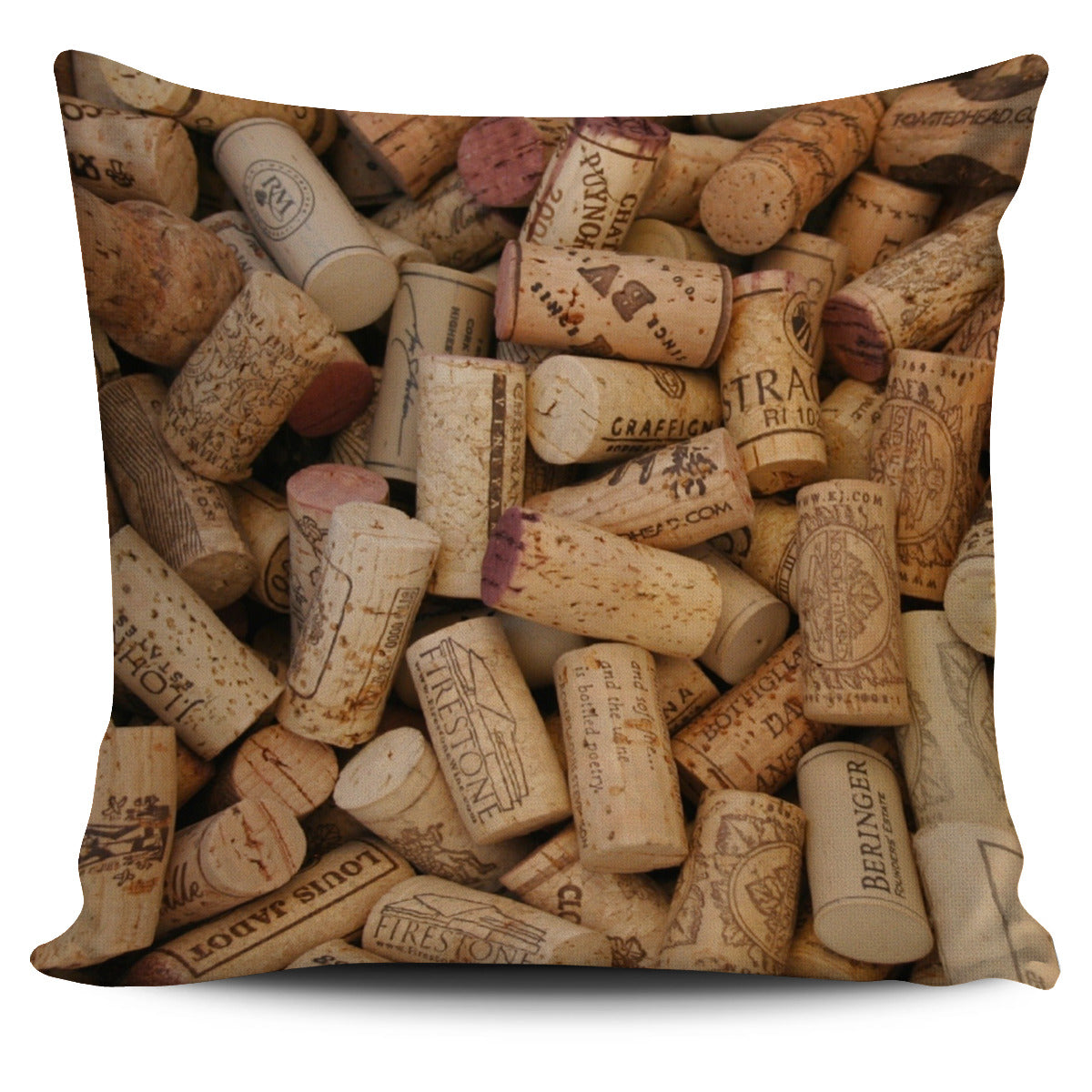 Wine Corks Pillow Cover