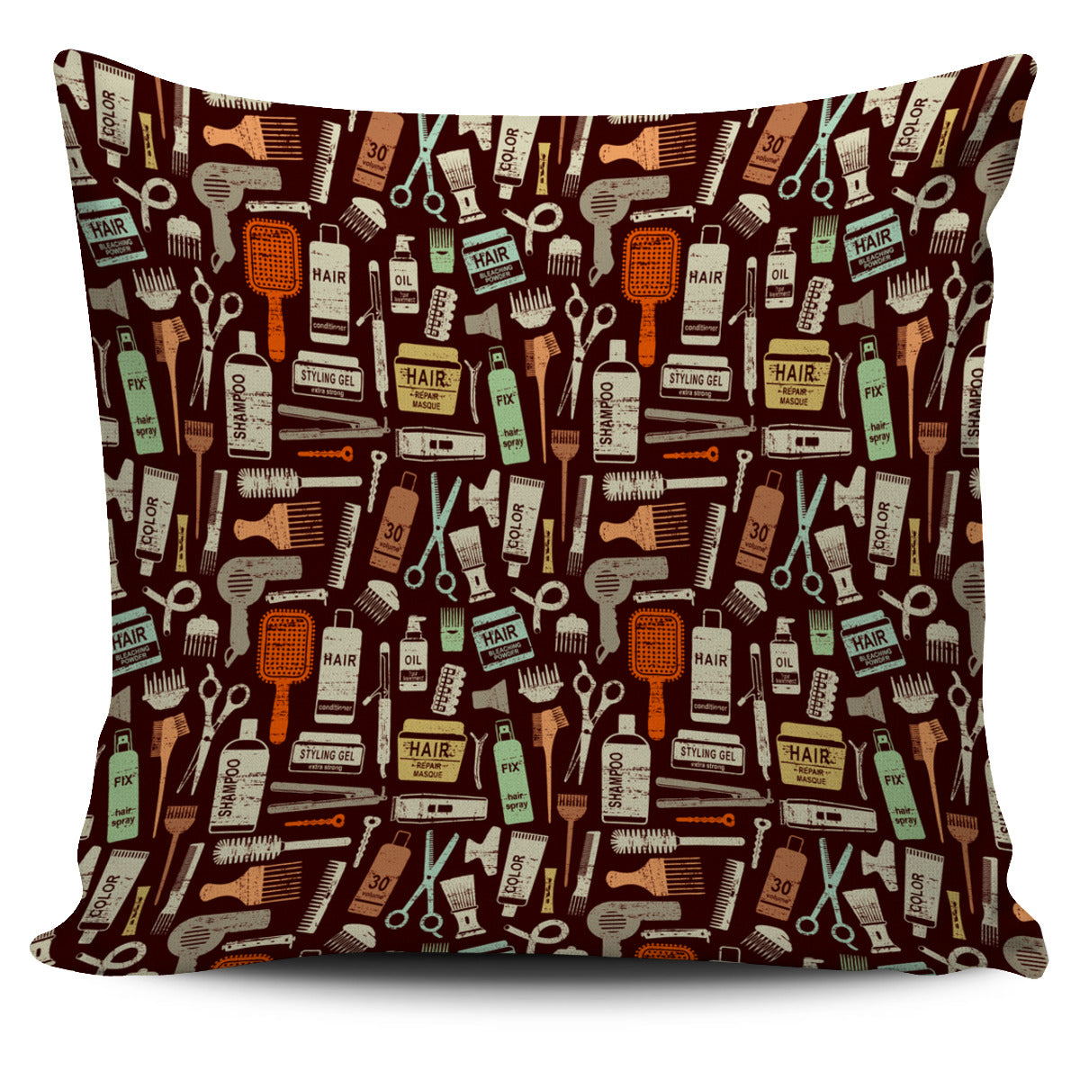 Hair Elements Pillow Cover