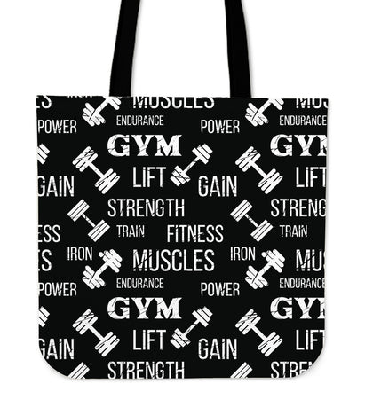 Gym Strength Tote Bag