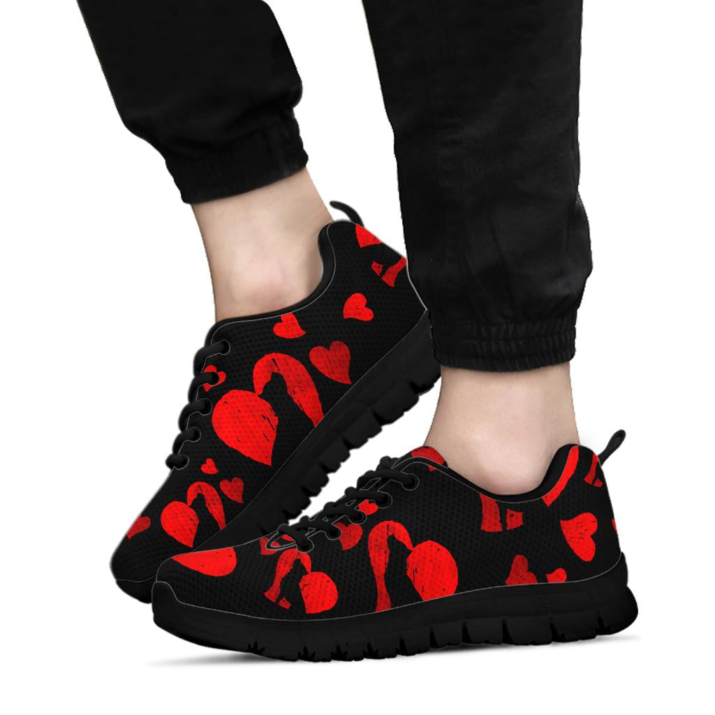 Pit Hearts Sneakers Black Soles