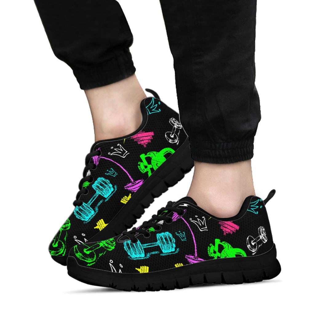 Neon Gym Sneakers Black Soles