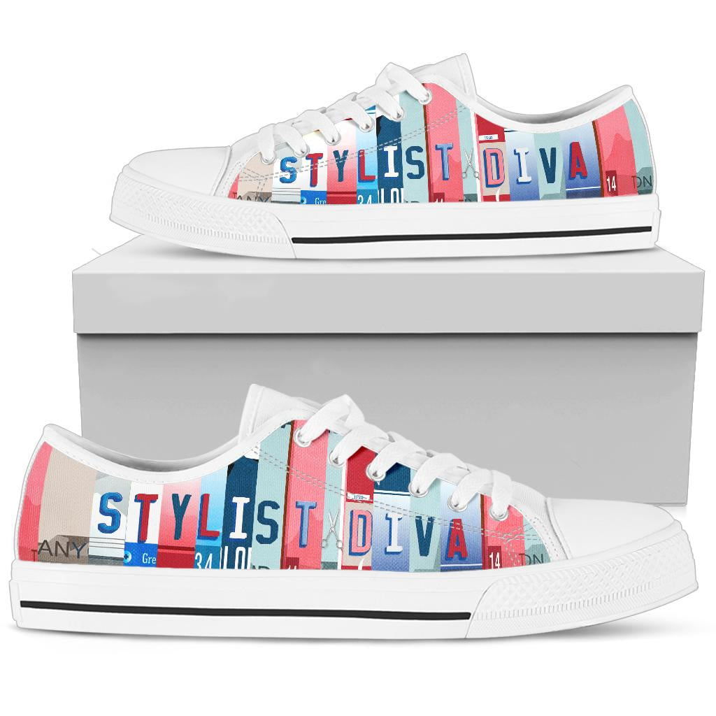 Stylist Diva Low Top Shoe Nautical_White Soles