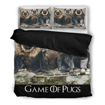 Game of Pugs Bed Sheet
