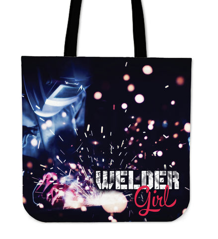 Welder Girl Tote Bag