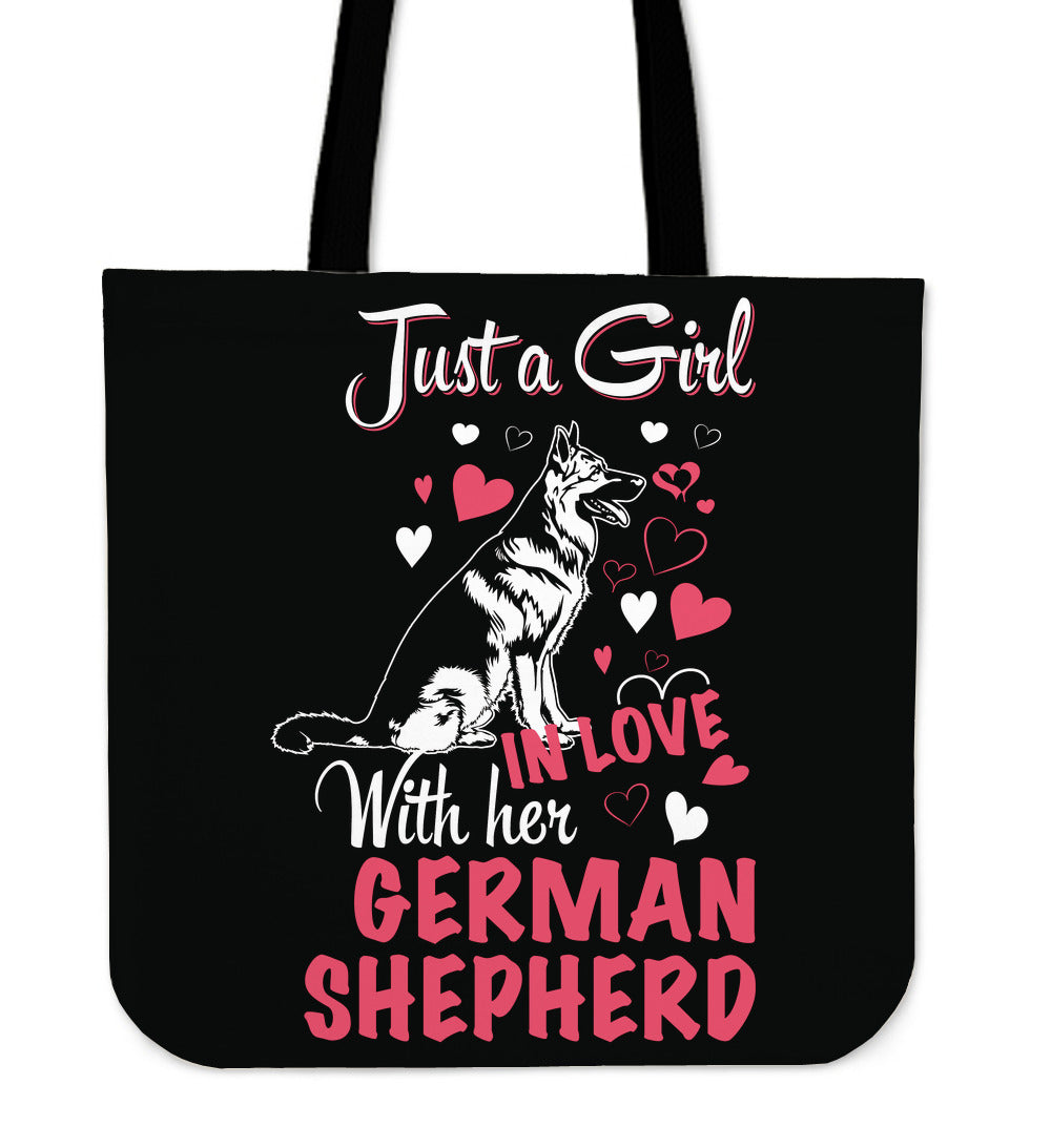 Just A Girl in Love With Her German Shepherd Tote Bag