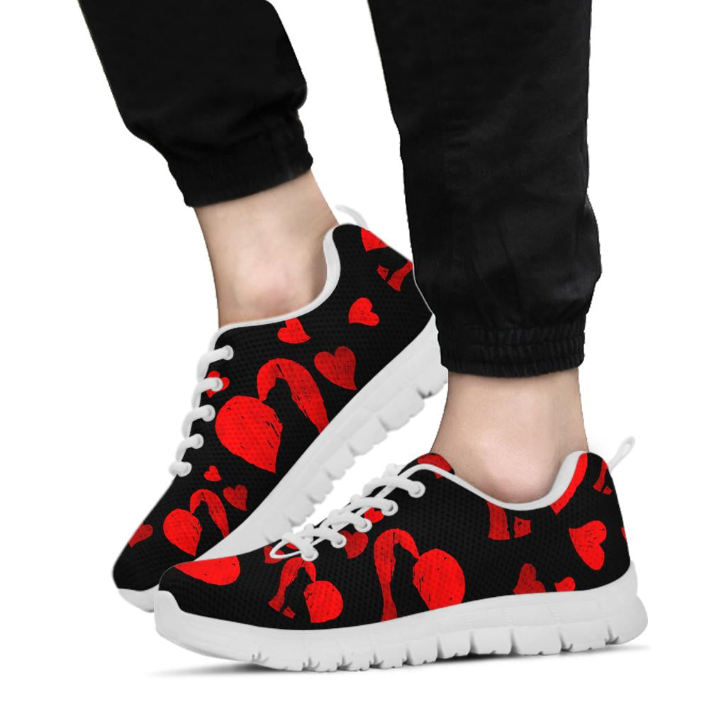 Pit Hearts Sneakers White Soles