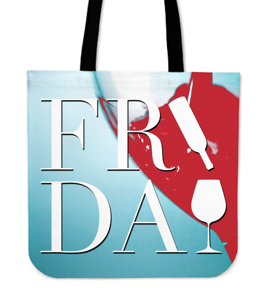 Friday Wine Tote Bag