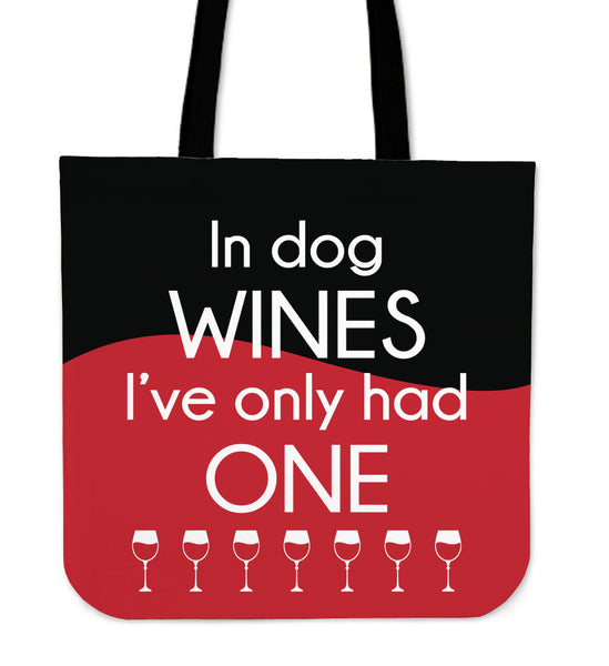 In Dog Wines Tote Bag