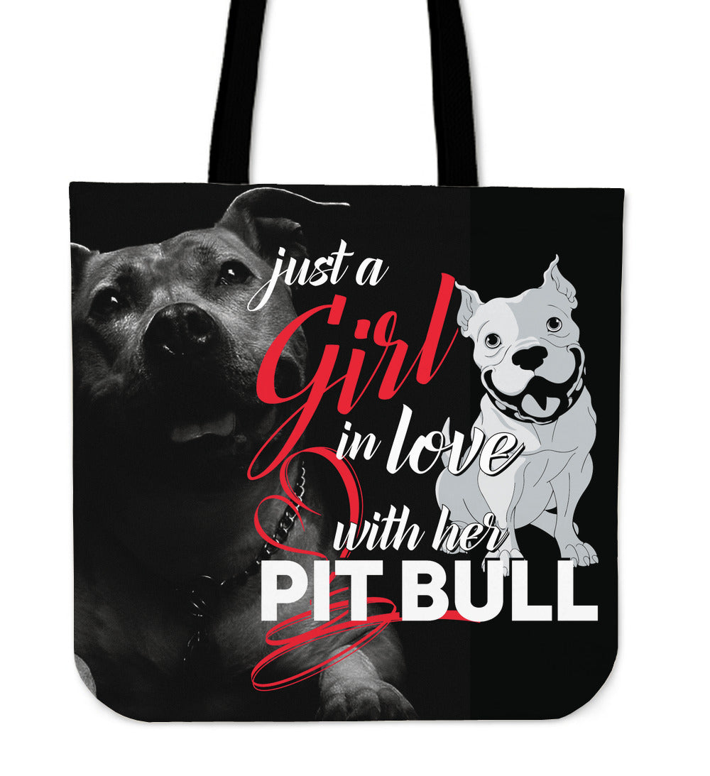 Just A Girl in Love With Her Pit Tote Bag