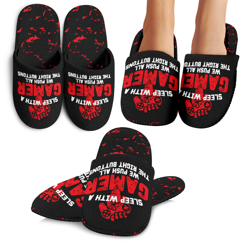 Sleep With A Gamer Slippers