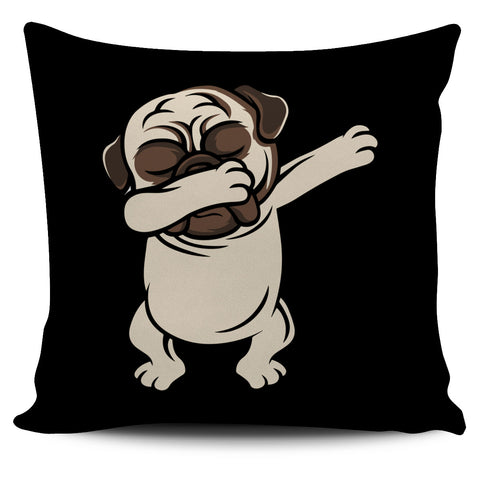 Pug Dab Pillow Cover