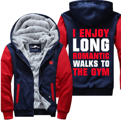 Romantic Walks To The Gym - Fitness Jacket
