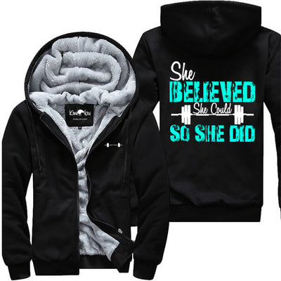 She Believed So She Did - Fitness Jacket