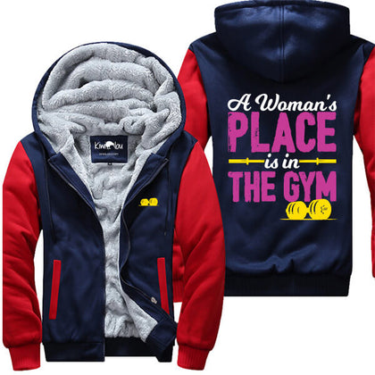 A Woman's Place Is In The Gym Jacket