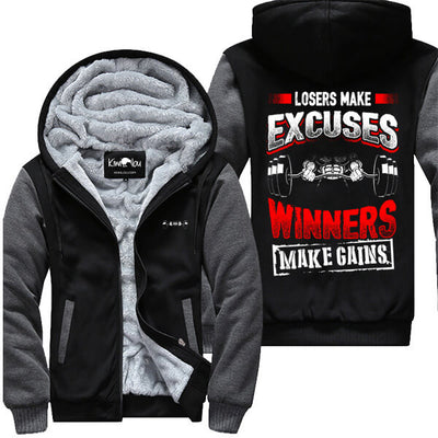 Losers Make Excuses - Fitness Jacket