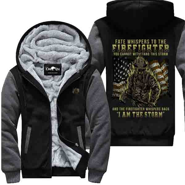 Fate Whispers To The Firefighter - Firefighter Jacket
