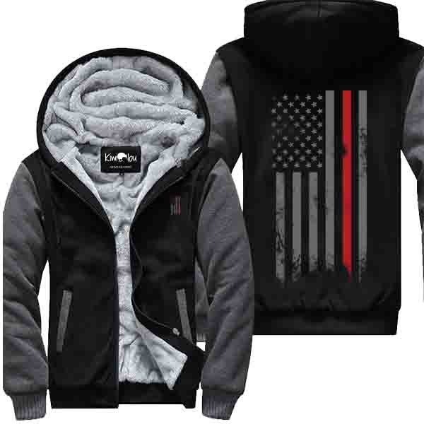 Fire Flag Grey - Firefighter Jacket
