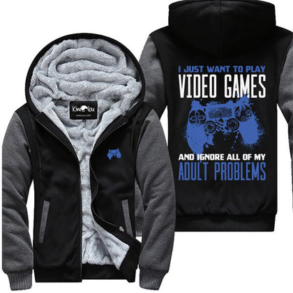 Play Video Games Ignore Adult Problems PS Jacket
