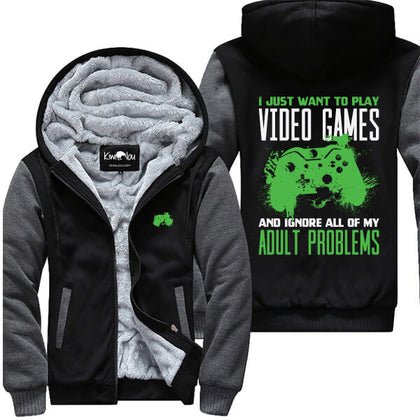 Play Video Games Ignore Adult Problems XB Jacket