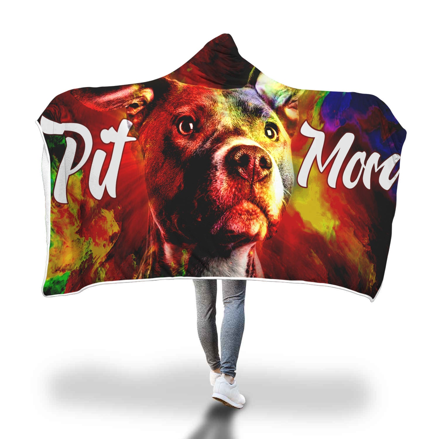 Colourful Pit Mom Hooded Blankets