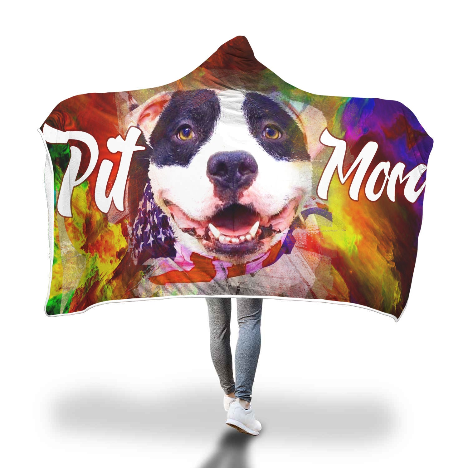 Pit Mom cool Hooded Blanket