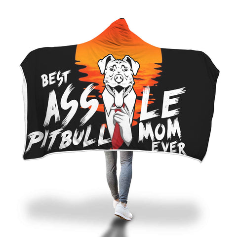 Best Pitbull Mom Hooded Blanket