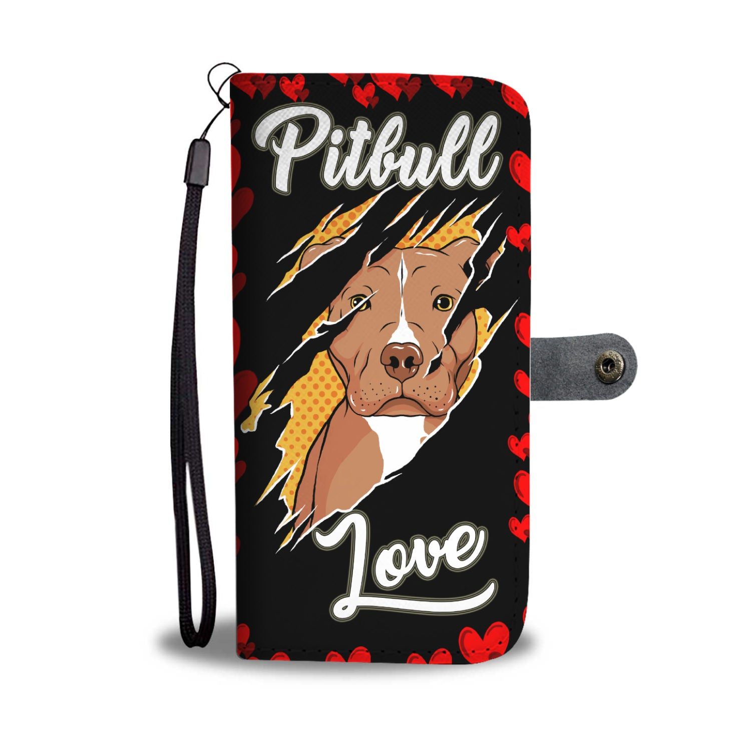 Pitbull Love Wallet Phone Case