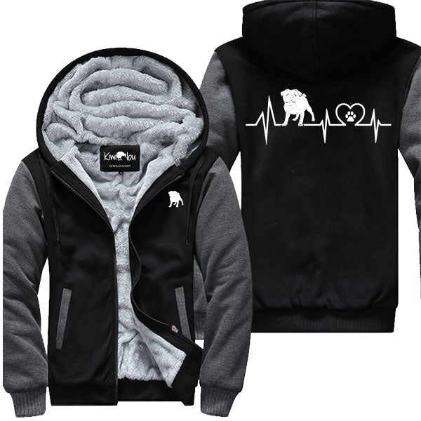 Pug Heartbeat - Pug Jacket