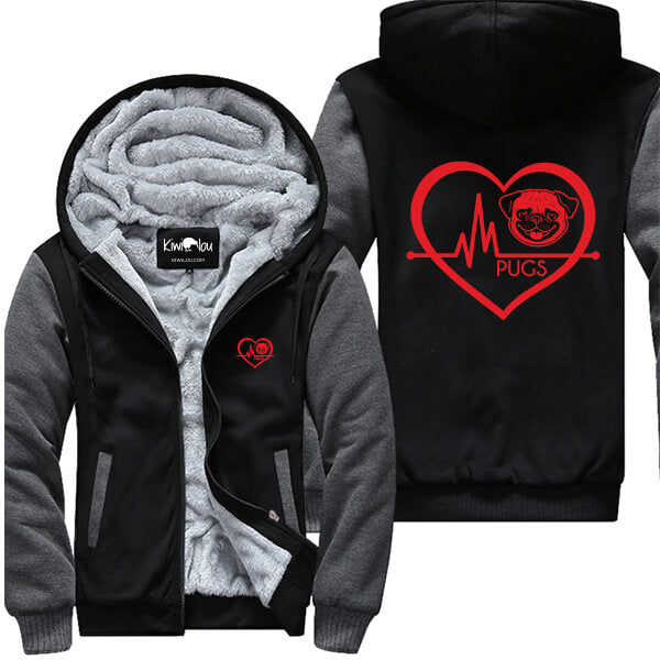Heartbeat Pugs Jacket