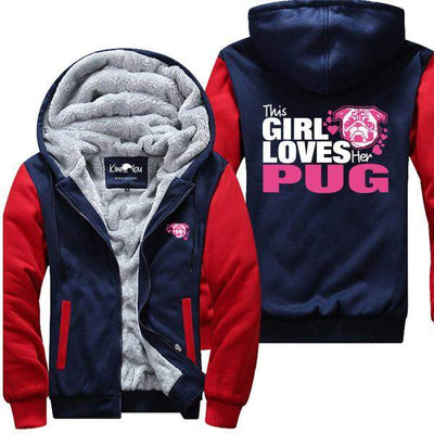 This Girl Loves Her Pug - Jacket - KiwiLou