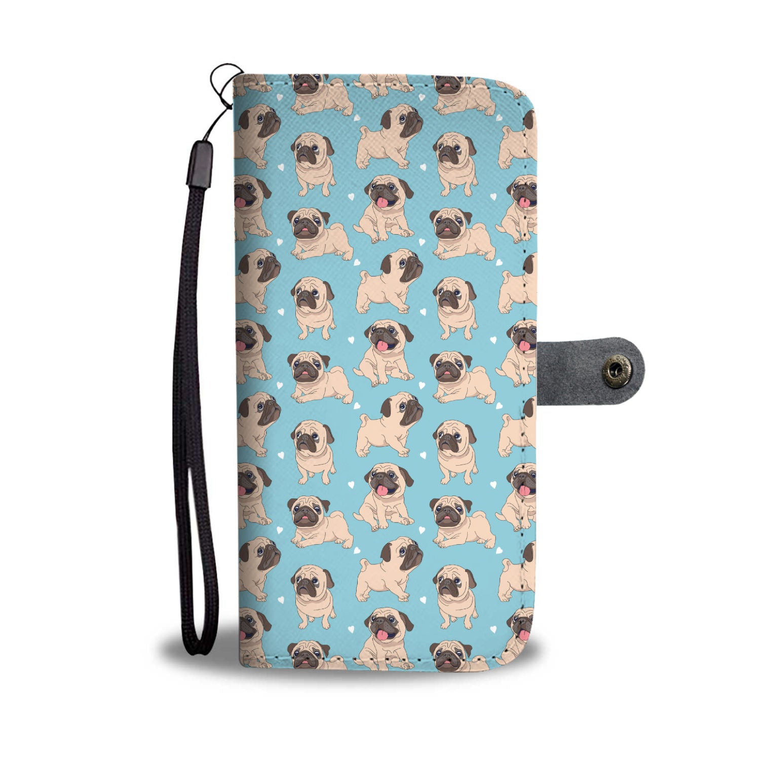 Puppy Pug Wallet Phone Case